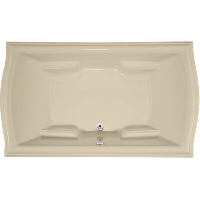 Designer Debra 72 x 42 Soaking Bathtub Finish: Bone