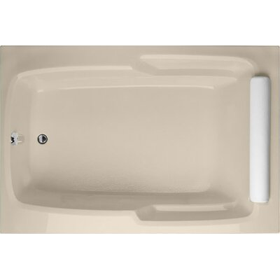 Designer Duo 72 x 48 Soaking  Bathtub Finish: Almond
