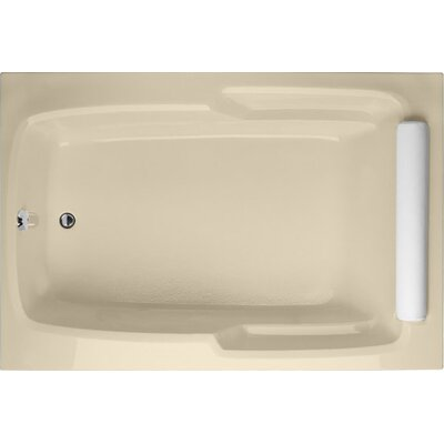 Designer Duo 60 x 48 Soaking Bathtub Finish: Bone