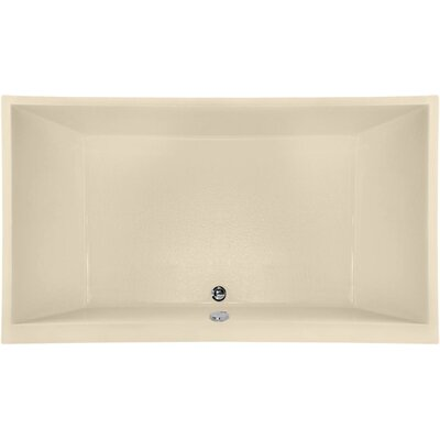 Designer Eileen 74 x 38 Soaking Bathtub Finish: Bone