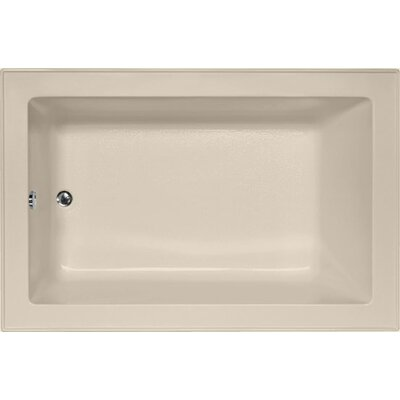 Designer Emma 66 x 42 Soaking Bathtub Finish: Almond