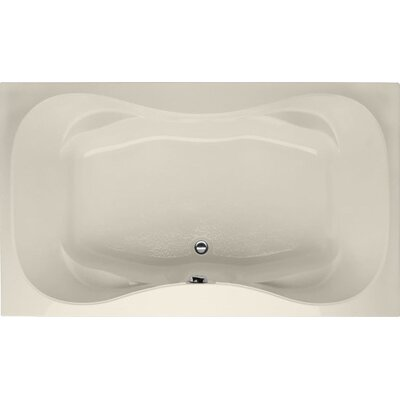Designer Evansport 60 x 42 Soaking Bathtub Finish: Biscuit