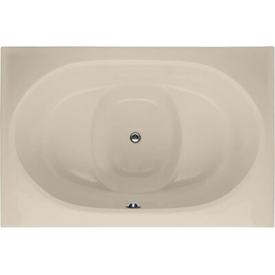 Designer Fuji 60 x 40 Soaking Bathtub Finish: Bone