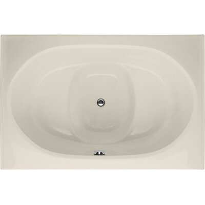 Designer Fuji 60 x 40 Soaking Bathtub Finish: Biscuit