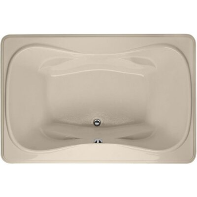 Designer Jennifer 72 x 48 Soaking Bathtub Finish: Almond