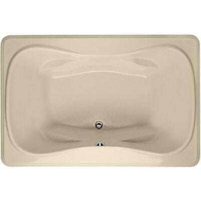 Designer Jennifer 72 x 48 Soaking Bathtub Finish: Bone