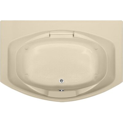 Designer Jessica 72 x 48 Soaking Bathtub Finish: Bone