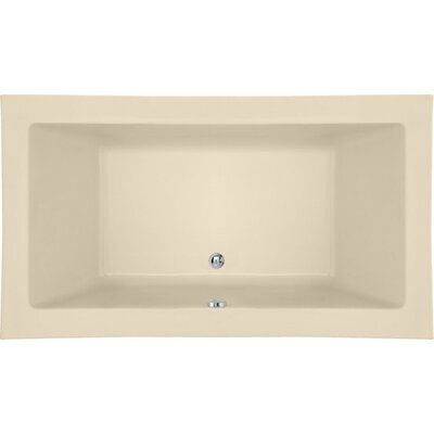 Designer Kayla 74 x 42 Soaking Bathtub Finish: Bone