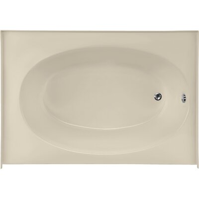 Builder Kona 60 x 42 Soaking Bathtub Finish: Almond