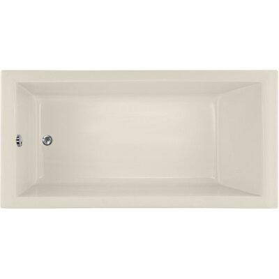 Designer Lacey 60 x 30 Soaking Bathtub Finish: Biscuit