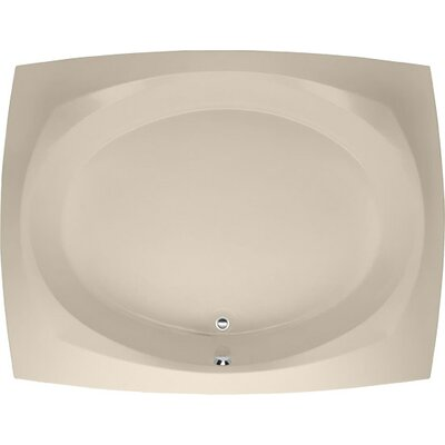 Designer Largo 82 x 64 Soaking Bathtub Finish: Almond