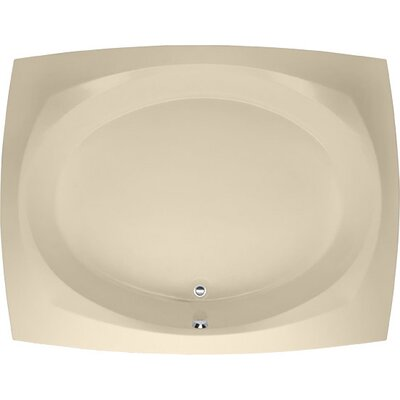 Designer Largo 82 x 64 Soaking Bathtub Finish: Bone