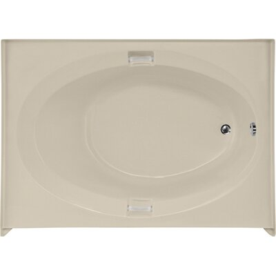 Builder Marie 60 x 42 Soaking Bathtub Finish: Bone, Drain Location: Left