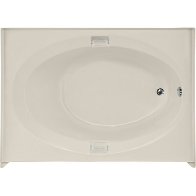 Builder Marie 60 x 42 Soaking Bathtub Finish: Biscuit, Drain Location: Right