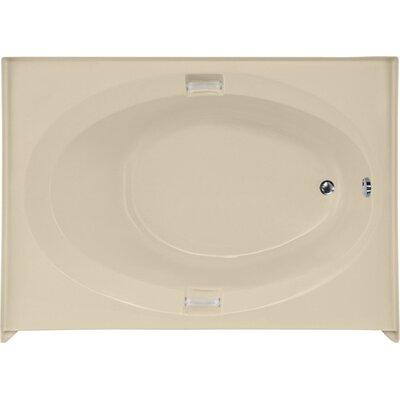 Builder Marie 60 x 42 Soaking Bathtub Finish: Bone, Drain Location: Right