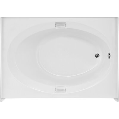 Builder Marie 60 x 42 Soaking Bathtub Finish: White, Drain Location: Right