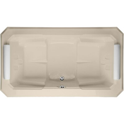 Designer Mystique 78 x 44 Soaking Bathtub Finish: Almond
