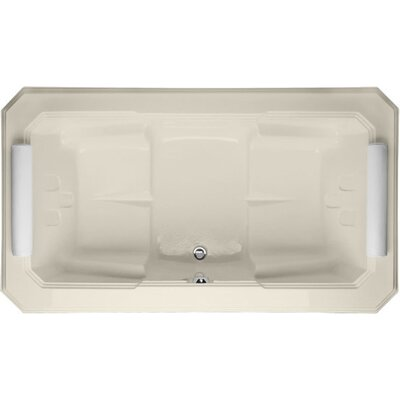 Designer Mystique 78 x 44 Soaking Bathtub Finish: Biscuit