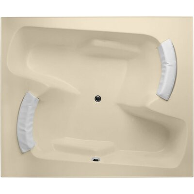 Designer Penthouse 72 x 60 Soaking Bathtub Finish: Bone