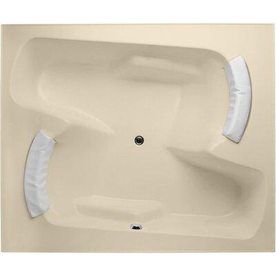 Designer Penthouse 72 x 60 Soaking Bathtub Finish: Bone