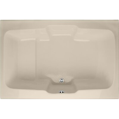 Designer Victoria 73 x 48Soaking Bathtub Finish: Almond