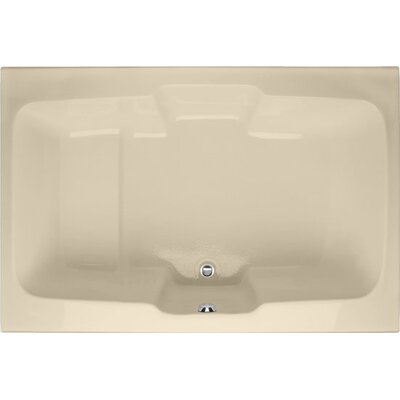 Designer Victoria 73 x 48Soaking Bathtub Finish: Bone