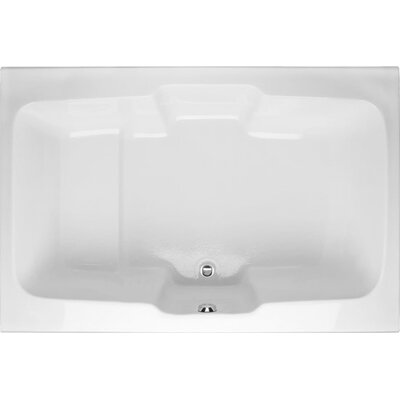 Designer Victoria 73 x 48Soaking Bathtub Finish: White