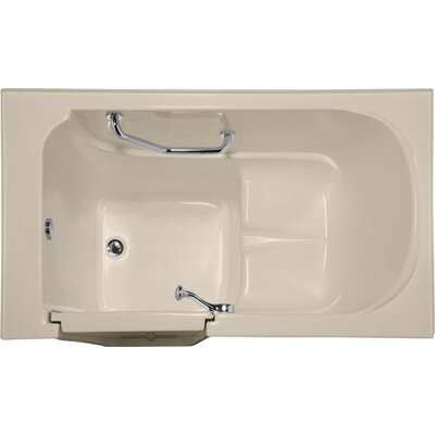 Life Style Series 52 x 30 Whirlpool Bathtub Finish: Almond