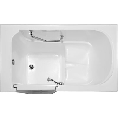 Life Style Series 52 x 30 Soaking Bathtub Finish: White