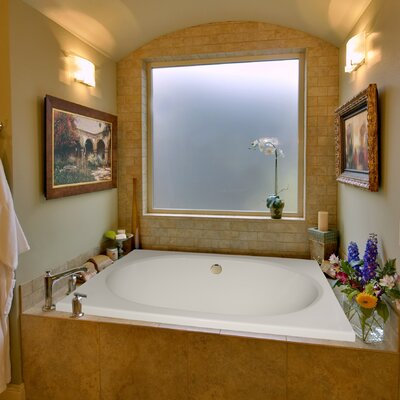 Designer Fuji 60 x 40 Whirlpool Bathtub Finish: Almond