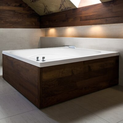Designer Alexis 60 x 48 Soaking Bathtub Finish: Bone