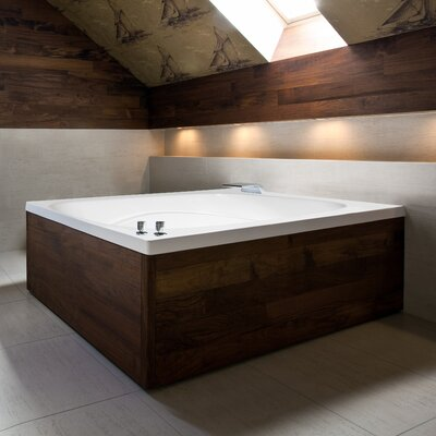 Designer Alexis 60 x 48 Whirlpool Bathtub Finish: Bone