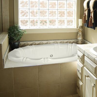 Designer Alyssa 66 x 42 Soaking Bathtub Finish: White