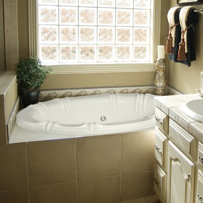 Designer Alyssa 66 x 42 Soaking Bathtub Finish: Almond