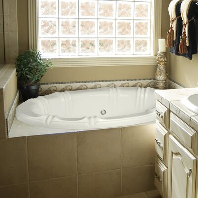 Designer Alyssa 78 x 48 Soaking Bathtub Finish: Almond