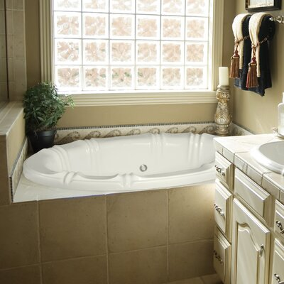 Designer Alyssa 66 x 42 Whirlpool Bathtub Finish: Almond
