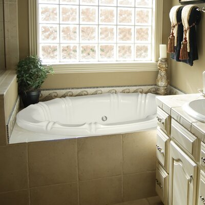 Designer Alyssa 78 x 48 Whirlpool Bathtub Finish: Almond