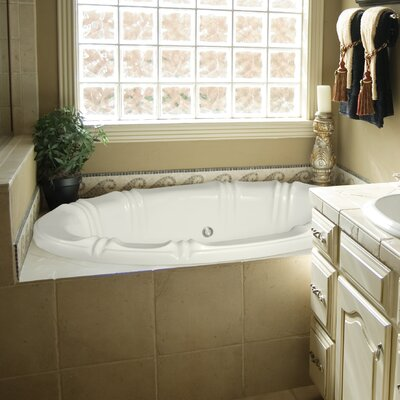 Designer Alyssa 66 x 42 Soaking Bathtub with Combo System Finish: White