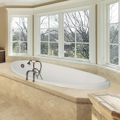 Designer Carli 60 x 36 Whirlpool Bathtub Finish: White