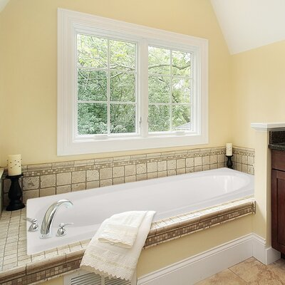 Designer Caribe 72 x 36 Soaking Bathtub Finish: Almond