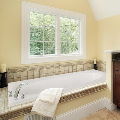 Designer Caribe 72 x 36 Soaking Bathtub Finish: White