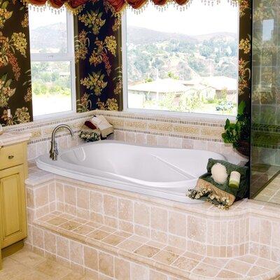 Designer Cassi 60 x 42 Soaking Bathtub Finish: White