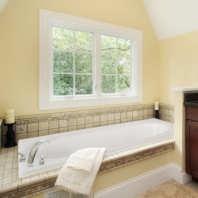 Designer Caribe 72 x 36 Whirlpool Bathtub Finish: White