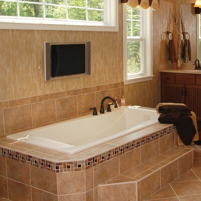 Designer Charlotte 72 x 36 Soaking Bathtub Finish: White