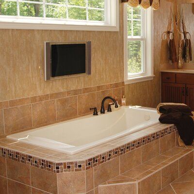 Designer Charlotte 72 x 36 Soaking Bathtub Finish: Almond