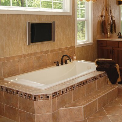 Designer Charlotte 72 x 36 Whirlpool Bathtub Finish: White