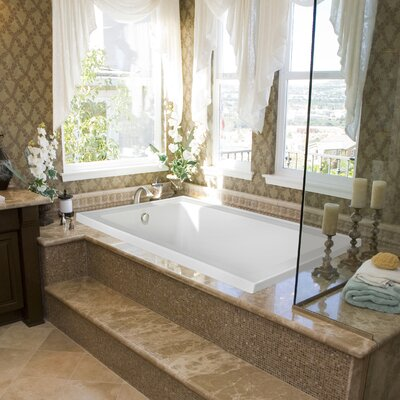 Designer Emma 66 x 42 Air Bath Finish: Bone