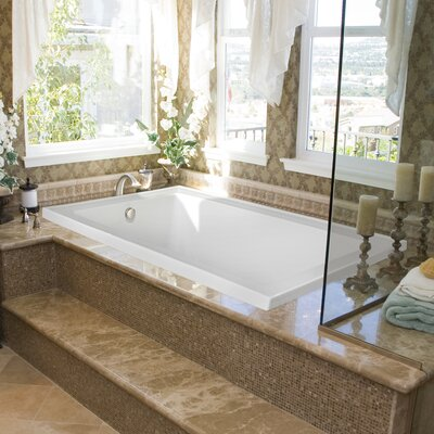 Designer Emma 66 x 42 Whirlpool Bathtub Finish: Almond
