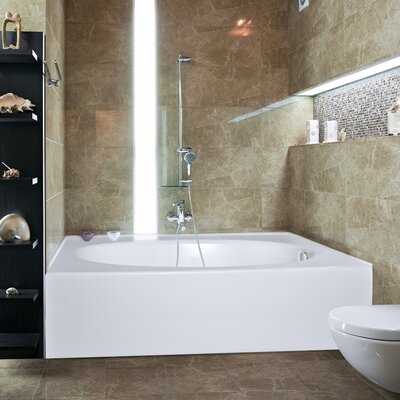 Builder Kona 60 x 42 Soaking Bathtub Finish: Biscuit, Drain Location: Right