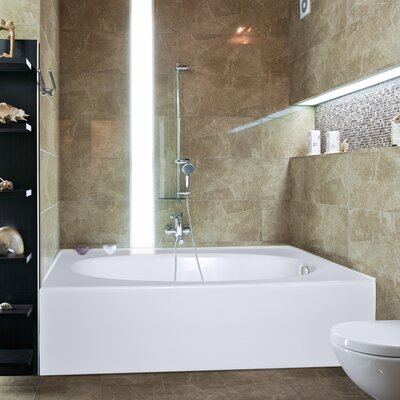 Builder Kona 60 x 42 Soaking Bathtub Finish: White